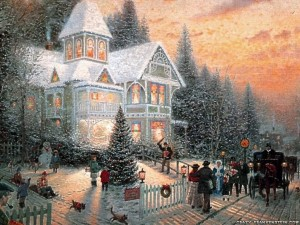 christmas-scene-near-house