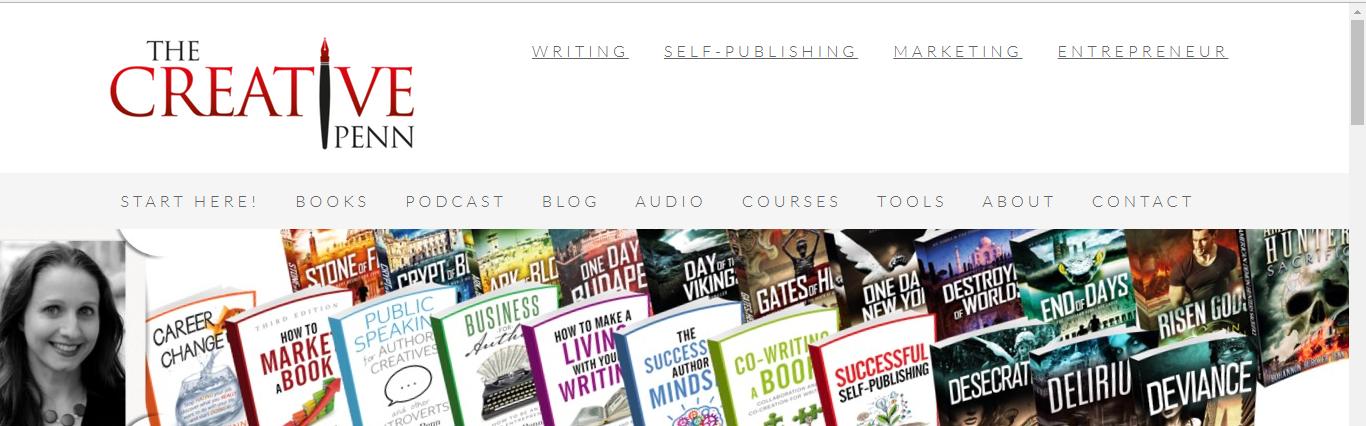 Joanna Penn's website Creative Penn